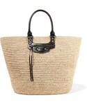 Balenciaga「Balenciaga - Panier Large Leather-trimmed Raffia Tote - Sand(Tote)」