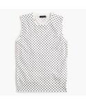 J.Crew「Cotton Jackie shell in dot(Knitwear)」