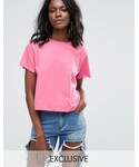 Missguided「Missguided Scallop Trim Tee(T Shirts)」