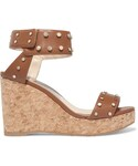 Jimmy Choo「Jimmy Choo - Nelly Studded Leather Wedge Sandals - Tan(Other Shoes)」
