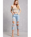 Forever 21「FOREVER 21+ Distressed Boyfriend Jeans(Denim pants)」