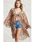 Forever 21(フォーエバー トゥエンティーワン)の「FOREVER 21+ Contemporary Floral Kimono(カーディガン)」