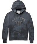 Remi Relief(レミ レリーフ)の「Remi Relief Flocked Loopback Cotton-Jersey Hoodie(スウェット)」