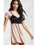 Forever 21「FOREVER 21+ Satin Corset T-Shirt Dress(One piece dress)」