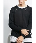 Forever 21「FOREVER 21+ KDNK Distressed Crew Sweater(Knitwear)」