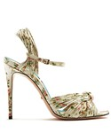Gucci「GUCCI Allie rose-print leather sandals(Other Shoes)」