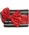 Betsey Johnson「Betsey Johnson Large Sequin Bow Wristlet, A Macy's Exclusive Style(Clutch)」