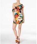 Astr「ASTR Marisol One-Shoulder Flounce Dress(One piece dress)」