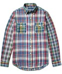 Polo Ralph Lauren(ポロラルフローレン)の「Polo Ralph Lauren Slim-Fit Button-Down Collar Madras-Checked Cotton Shirt(シャツ・ブラウス)」