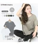 CITRINE Chakra(シトリンチャクラ)の「ポケット付ドロップコットンT(Tシャツ・カットソー)」