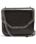 Stella McCartney「STELLA MCCARTNEY Falabella Box crocodile-effect cross-body bag(Handbag)」