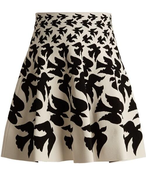 アレキサンダーマックイーン- Doves-intarsia mini skirt