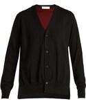 Toga(トーガ)の「TOGA Layered V-neck wool cardigan(カーディガン)」