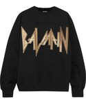 Balmain「Balmain - Oversized Printed Cotton-jersey Sweatshirt - Black(Sweatshirt)」