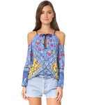 Nanette Lepore「Nanette Lepore Woodstock Off Shoulder Tunic(Swimwear)」
