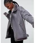 Asos「ASOS Aviator in Leather Look(Riders jacket)」