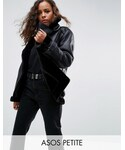 Asos「ASOS Petite ASOS PETITE Aviator in Leather Look(Riders jacket)」