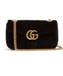 Gucci | GUCCI GG Marmont quilted-velvet cross-body bag(Handbag)
