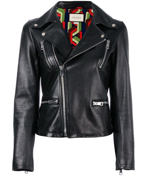 0ce7b4263afb Gucci(グッチ)の「Gucci - 刺繍レザージャケット - women - シルク/ラムスキン - 38(ライダースジャケット)」 - WEAR