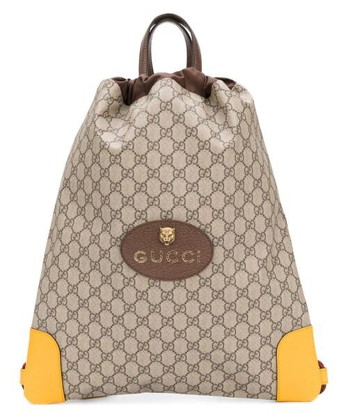 Gucci(グッチ)の「Gucci - Ggスプリーム バックパック - men - レザー ... 00a6699b73dd1