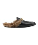 Gucci「Gucci - Princetown ミュール - men - レザー/Lama Fur - 8(Other Shoes)」