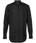 Ann Demeulemeester「Ann Demeulemeester - stitched detail shirt - men - コットン - M(Shirts)」