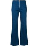 Tory Burch「Tory Burch - ジップアップ フレアジーンズ - women - コットン/スパンデックス - 29(Denim pants)」