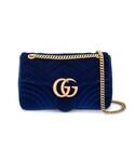 Gucci | Gucci - GG Marmont ショルダーバッグ - women - 真鍮/ベルベット - ワンサイズ(ショルダーバッグ)