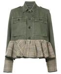 Harvey Faircloth「Harvey Faircloth - ペプラム デニムジャケット - women - コットン/ウール - L(Denim jacket)」