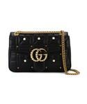 Gucci「Gucci - GG Marmont Black Borsa ショルダーバッグ - women - レザー/metal - ワンサイズ(Shoulderbag)」