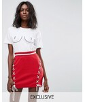 Missguided「Missguided Nipple Printed T-Shirt(T Shirts)」