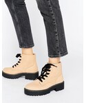 Pull&Bear「Pull&Bear Chunky Lace Up Work Boots(Boots)」