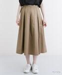 merlot   コットンフレアタック入りスカート1012(スカート)