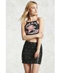 Forever 21「FOREVER 21+ Studded Faux Leather Mini Skirt(Skirt)」