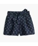 J.Crew「Tie-waist short with bees(Pants)」