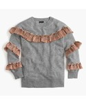 J.Crew「Cashmere sweater with lamé fringe(Knitwear)」