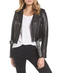 Blank NYC「Women's Blanknyc Studded Leather Moto Jacket(Riders jacket)」
