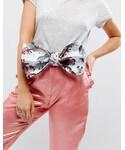 Asos「ASOS Floral Oversized Bow Waist Belt(Belt)」