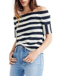 Madewell「Women's Madewell Leyland Striped Off The Shoulder Tee(T Shirts)」