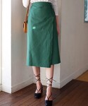 DHOLIC | 5COLORSラップミディスカート(スカート)