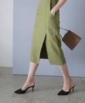 DHOLIC | バックゴムフロントスリットタイトスカート(スカート)