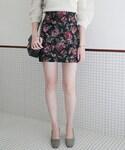 DHOLIC(ディーホリック)の「ジャガードフローラルミニマルスカート(スカート)」