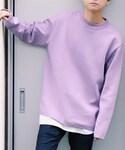LIDnM   ミラノリブオフショルダーニット(針織衫)