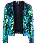 Topshop「Topshop Circle sequin embellished jacket(Riders jacket)」