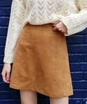 DHOLIC(ディーホリック)の「スエード調Aラインミニスカート(スカート)」