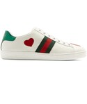Gucci「GUCCI New Ace heart-appliqué leather trainers(Sneakers)」