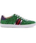 Gucci「GUCCI New Ace glitter-covered trainers(Sneakers)」