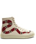Gucci「GUCCI Major snake-appliqué high-top leather trainers(Sneakers)」