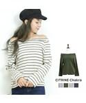 CITRINE Chakra(シトリンチャクラ)の「変形オフショルプルオーバー(Tシャツ・カットソー)」