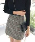 DHOLIC(ディーホリック)の「チェックパターンAラインミニスカート(スカート)」
